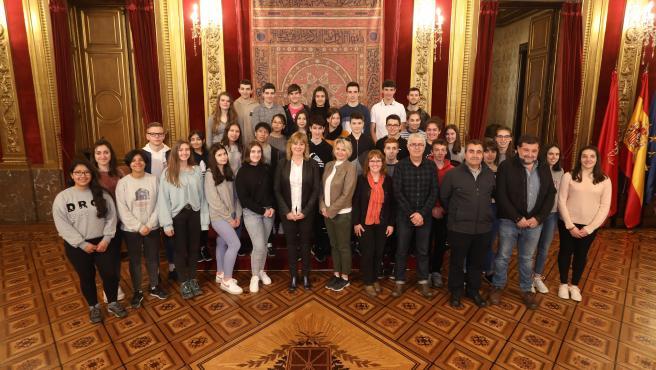 La consejera Ana Ollo con los participante en el Proyecto europeo 'TOTEM'