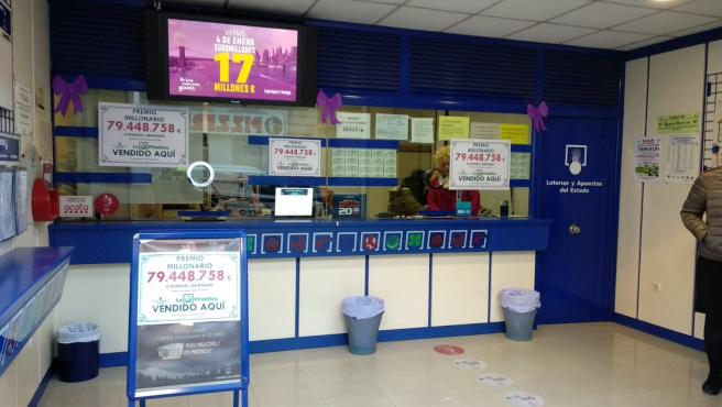Administración de loteria en una imagen de archivo