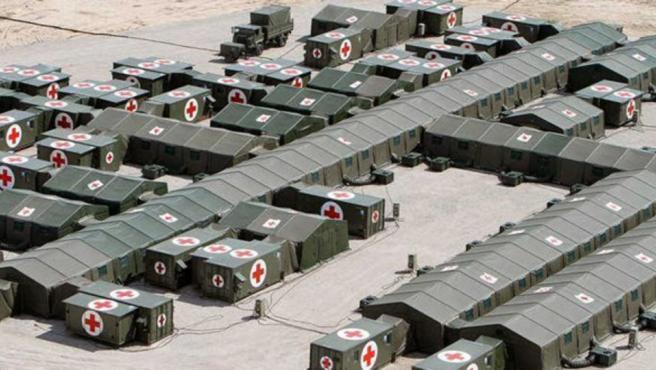 Hospital de campaña desplegable del Ejército de Tierra.