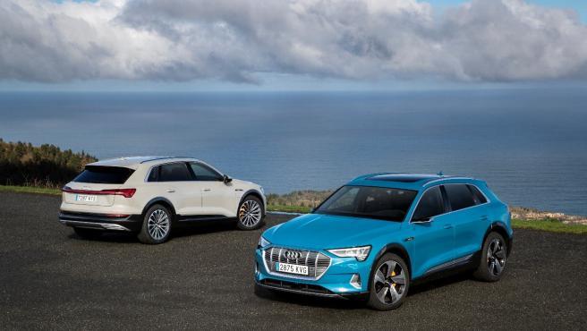 Audi e-tron, en dos colores.