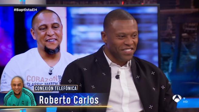 Roberto Carlos y Julio Baptista, en 'El hormiguero'.