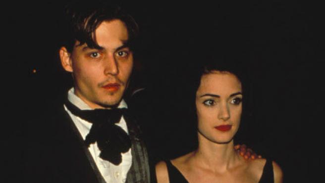 Winona Ryder y Johnny Depp.