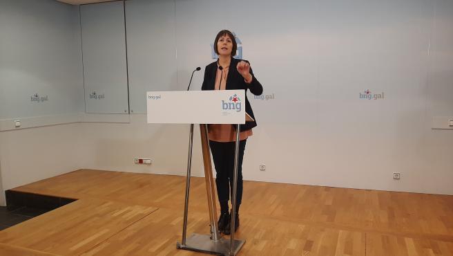 Ana Pontón en rueda de prensa