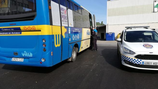 Autobús en Avilés.