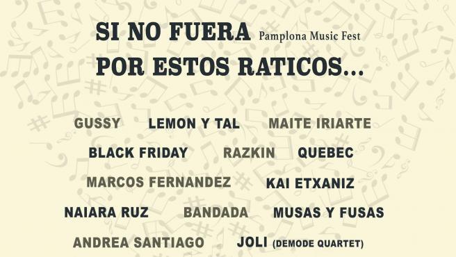 Cartel del festival virtual 'Si no fuera por estos raticos Fest'