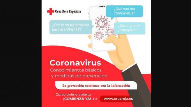 Curso Cruz Roja para prevenir el coronavirus.