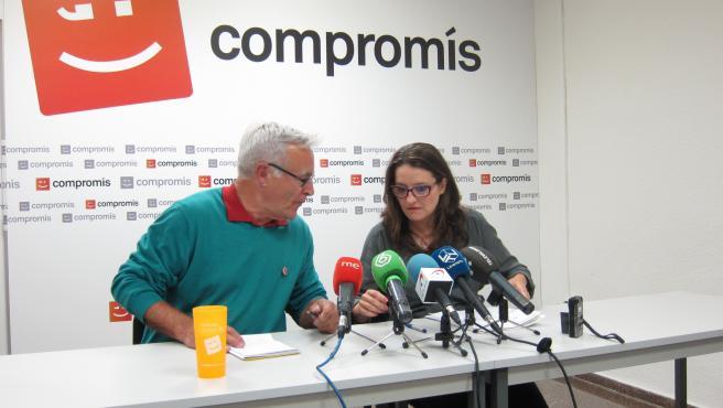 Joan Ribó, líder de Compromís, y Mònica Oltra, portavoz de Compromís.