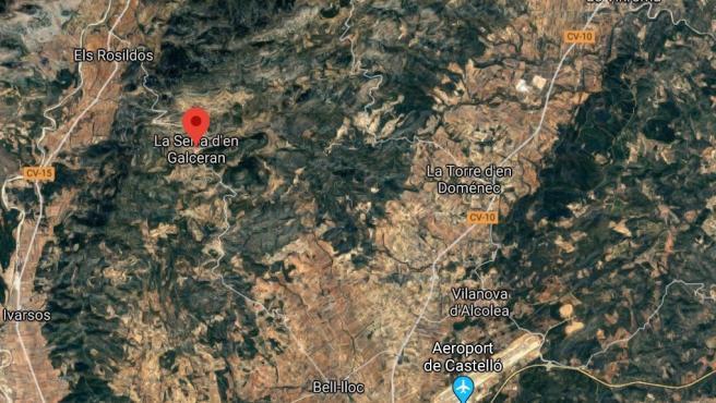 Localización de la Serra d'en Galceran