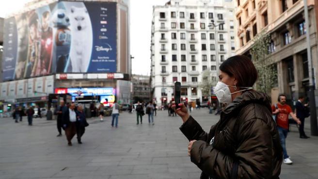 Las calles de Madrid se vacían por el coronavirus (EFE)