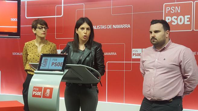 María Chivite, Adriana Maldonado y Carlos Mena.