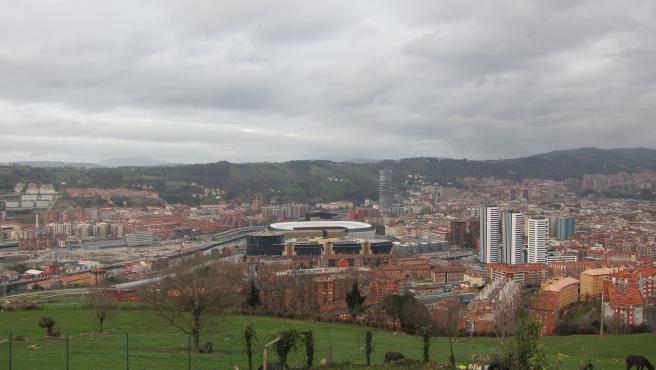 Nubes bajas sobre Bilbao