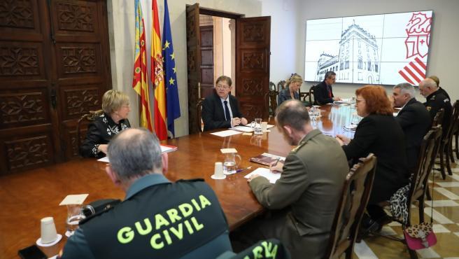 Reunión en la Generalitat Valenciana para coordinar la situación de emergencia