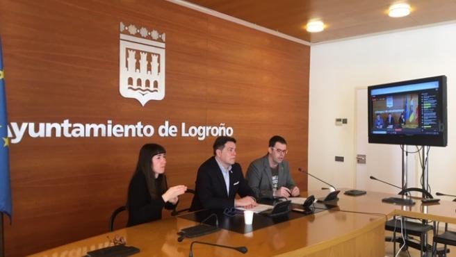 Rueda de prensa del Ayuntamiento de Logroño para explicar las nuevas medidas adoptadas por el coronavirus