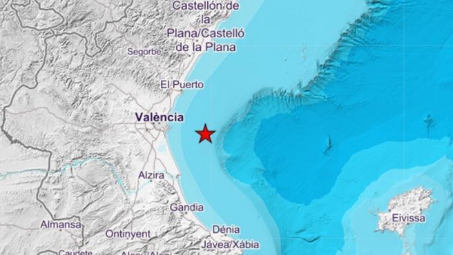 Terremoto frente a la costa de València
