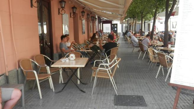 Una terraza de un restaurante