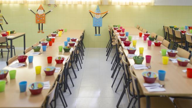 Comedor escolar de un colegio
