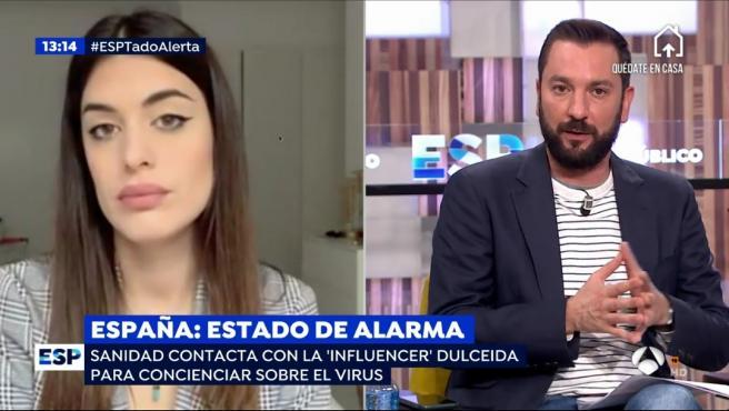 Dulceida, la 'influencer' más importante de España, habla para 'Espejo Público'.