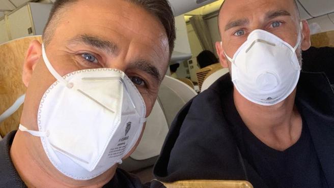 Fabio Cannavaro, con una mascarilla debido al coronavirus.