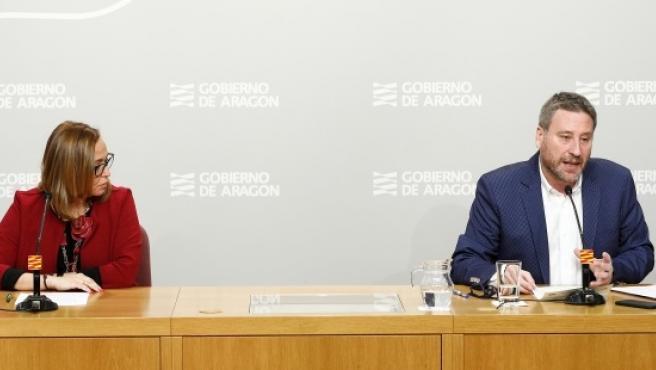 Rueda de prensa tras la reunión de la comisión de coordinación y seguimiento del Gobierno de Aragón constituida por el coronavirus.