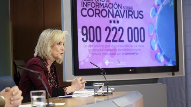 Verónica Casado durante la rueda de prensa posterior al Consejo de Gobierno extraordinario.