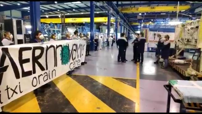 Aernnova cierra temporalmente su planta en Berantevilla (Álava) tras la protesta de sus trabajadores