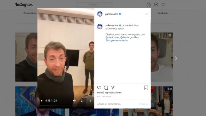Instagram de Pablo Motos.