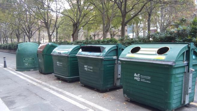 Contenedores de basura en Pamplona