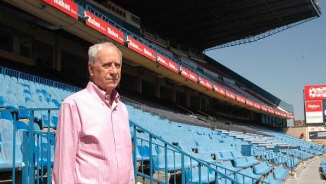 Joaquín Peiró, en el Vicente Calderón.