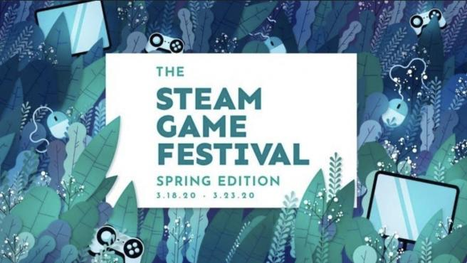 Cartel del Steam Game Festival de primavera 2020.