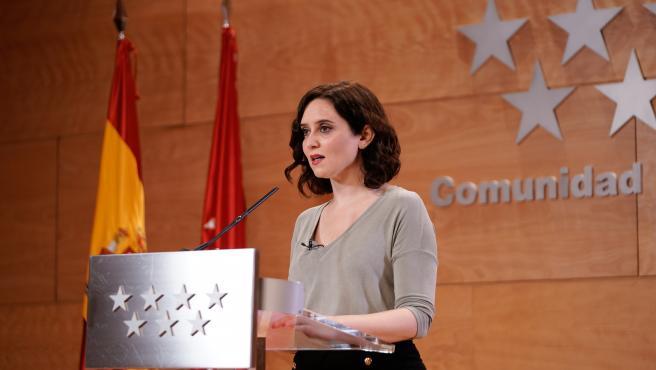 Imagen de recurso de la presidenta de la Comunidad de Madrid, Isabel Díaz Ayuso.