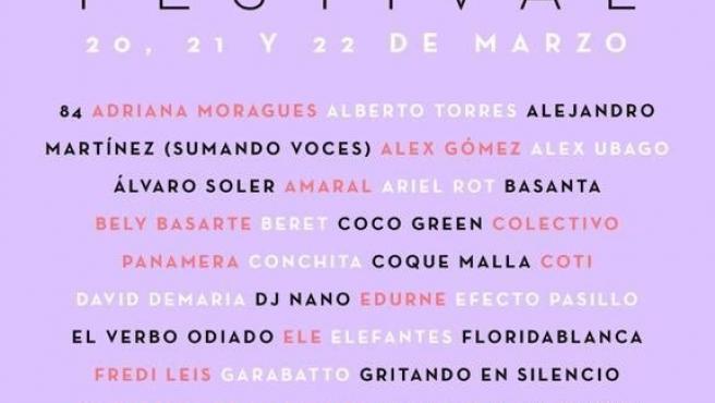 Cartel del festival #YoMeQuedoEnCasa