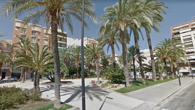 Imagen de la plaza Doctor Gómez Ulla, en Alicante.