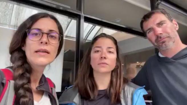 Familia española atrapada en Nepal por la crisis del coronavirus.