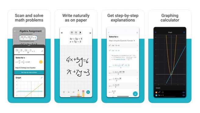 Microsoft Math Solver resuelve problemas escritos a mano y a máquina.