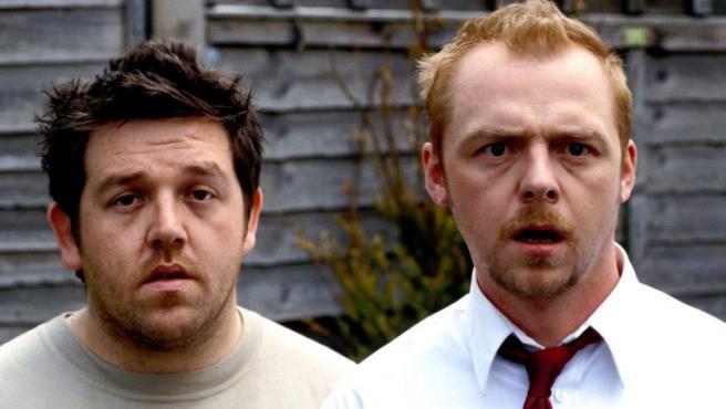 Simon Pegg y Nick Frost recrean una icónica escena de 'Zombies Party' para alertar sobre el coronavirus