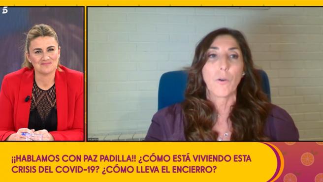 Paz Padilla solicita a la audiencia material para hacer mascarillas desde casa.