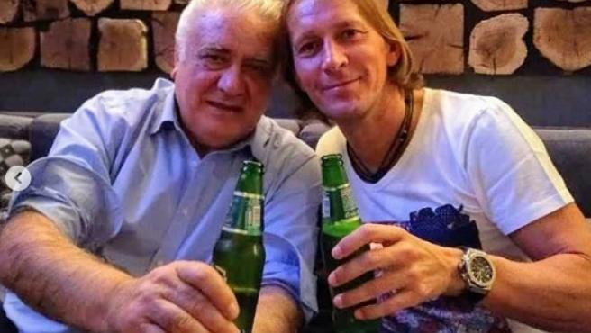 Michel Salgado y Lorenzo Sanz.