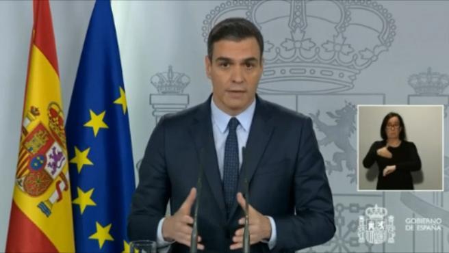 Sánchez pide a los partidos apoyo para ampliar el estado de alarma