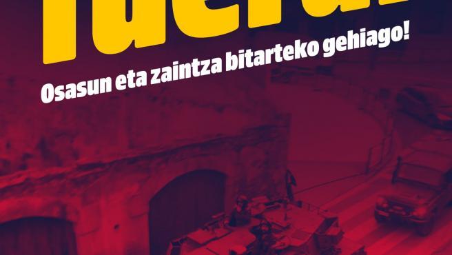 Cartel difundido por el partido independentista Sortu.