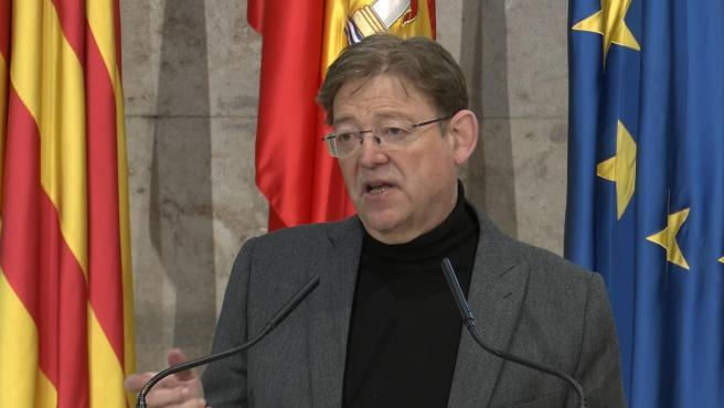 El presidente de la Generalitat, Ximo Puig,