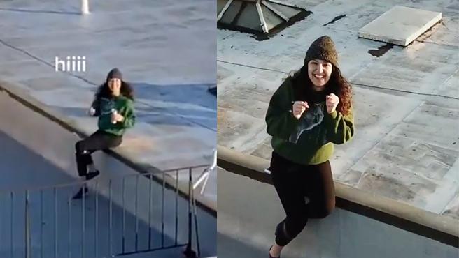 Envió su número de teléfono con un dron a la vecina de enfrente tras verla bailar en la terraza.