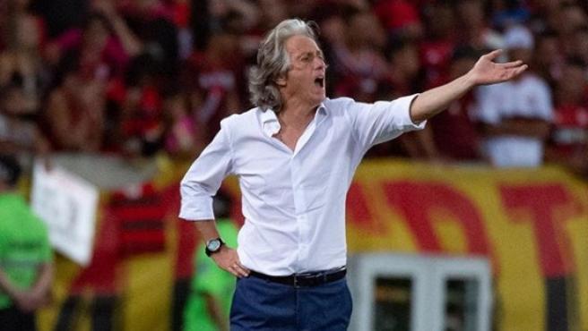 Jorge Jesús, en un partido del Flamengo.