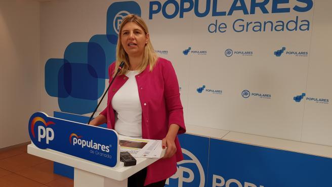 La portavoz del grupo popular en la Diputación de Granada, Inmaculada Hernández, en imagen de archivo