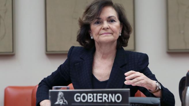 La vicepresidenta del Gobierno, Carmen Calvo, ha dado positivo en coronavirus en la segunda prueba a la que ha sido sometida. Calvo acudió a la Clínica Ruber de Madrid, que le corresponde por ser funcionaria de carrera, con una infección respiratoria.