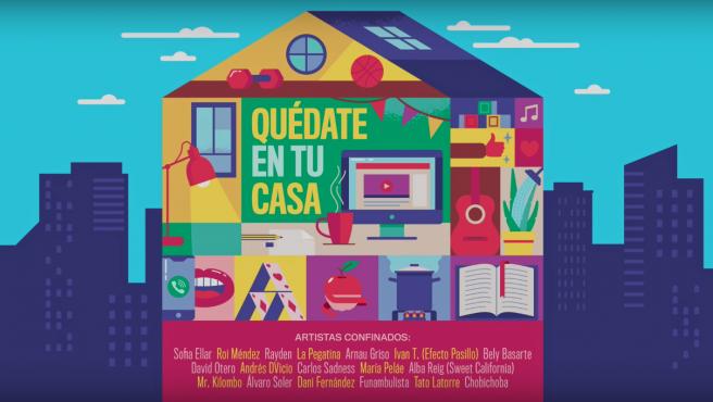 Cartel de la canción 'Quédate en tu casa'.