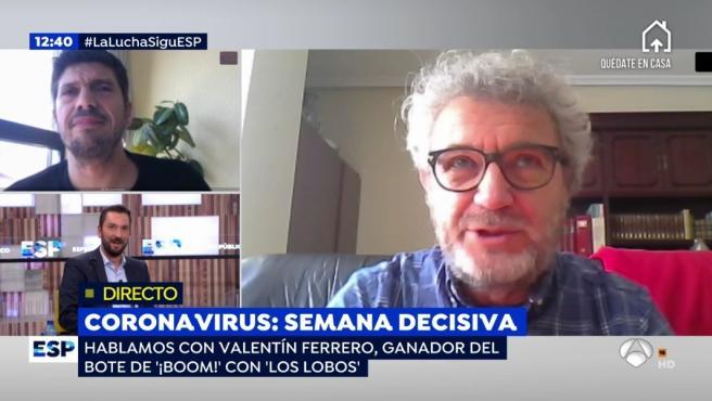 Vicente Ferrero, concursante de 'Los lobos' habla de su cuarentena en 'Espejo público'.