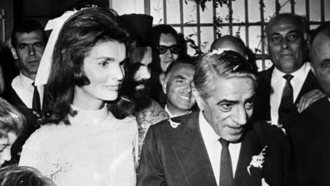 Jackie Kennedy junto a Aristóteles Onassis.