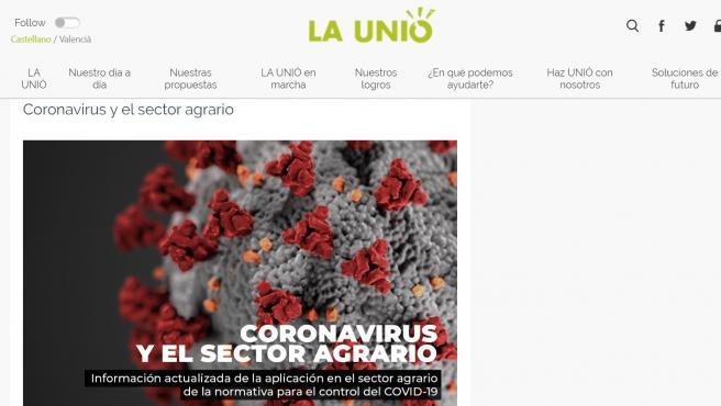 La Unió de Llauradors i Ramaders ha elaborado una guía para los agricultores y ganaderos de la Comunitat Valenciana en la que actualiza diariamente todas las novedades acerca de la aplicación de las medidas del estado de alarma ante el Covid-19