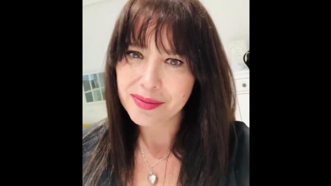 Minerva Piquero, en su vídeo de Twitter.
