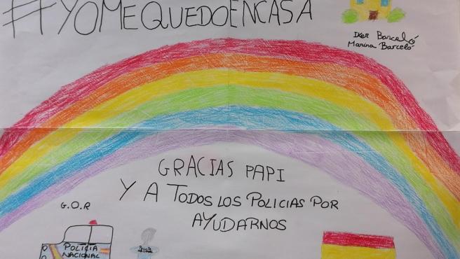 Primer dibujo seleccionado en la campaña 'Dibujando gratitud'.